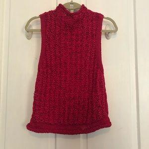 Anthropologie Pink Sweater Tank